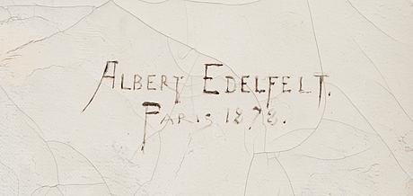"Albert edelfelt, ""vit mantilla"" (""la señorita"")."