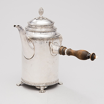 KAFFEKANNA, silver Petter Eneroth, Stockholm 1791.