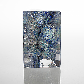 ANDERS SOLFORS, skulptur, glas, unik, signerad och daterad 2005.