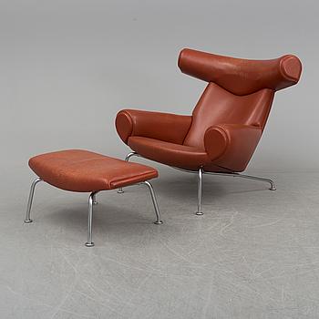 """A HANS J WEGNER """"Ox Chair"""", Eric Jorgensen, Danmark."""
