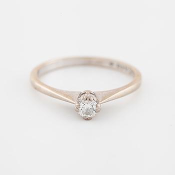RING med briljantslipad diamant, 0.20 ct, importstämplad 1981.