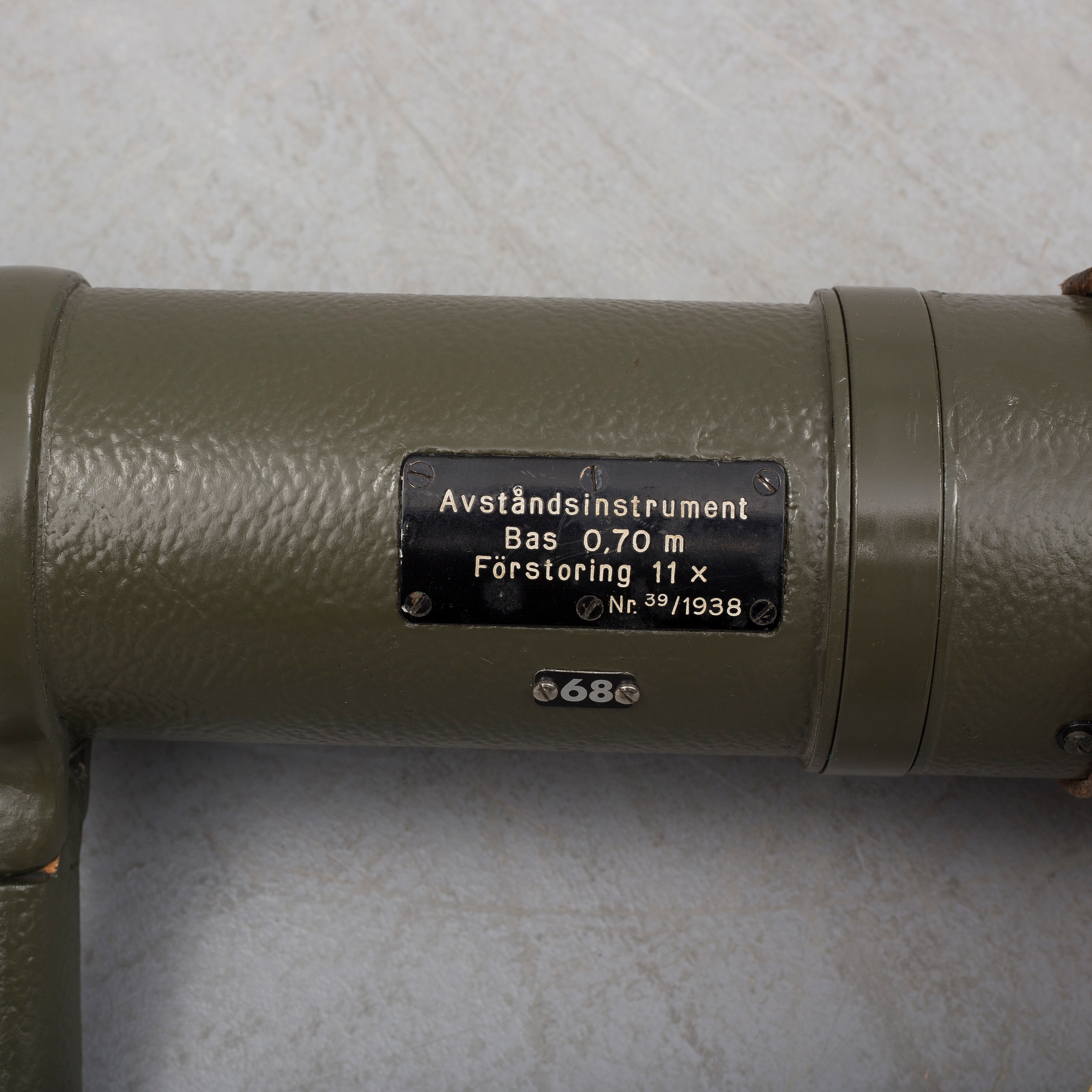 A Military Rangefinder with Carl Zeiss lenses used in the