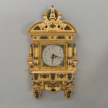 A wall clock 19/20th century,