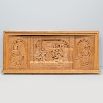 A wooden relief, signed H. Boortz and dated -50.