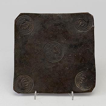 KAROLINSKT PLÅTMYNT, 1 DALER silvermynt, Karl XII av Sverige, 1710.