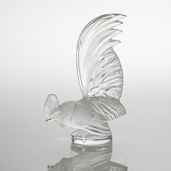 FIGURIN, glas, Lalique, 1900-talets andra hälft.