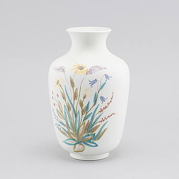 A stoneware vase by Lars Thorén for Rörstrand, around the mid 20th century.