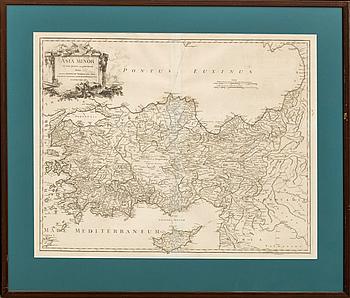 """KARTA, """"Asia Minor"""" Robert de Vaugondy 1756."""