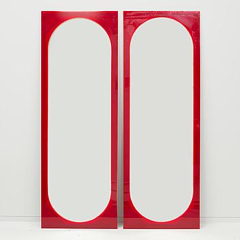 SPEGLAR, ett par, möjligen Gino Colombini, Kartell, 1970/80-tal.