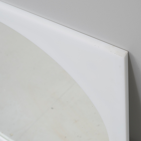 A 1970s mirror, possibly designed by gino colombini for kartell.