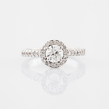 Ring briljantslipad diamant.