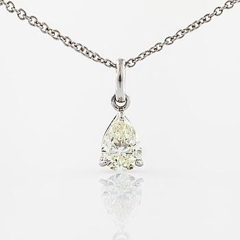 HALSBAND, med briljantslipad diamant.