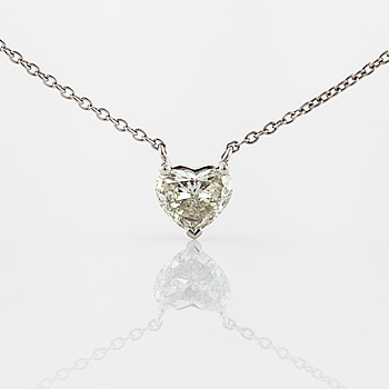 NECKLACE, with an heart cut diamond.