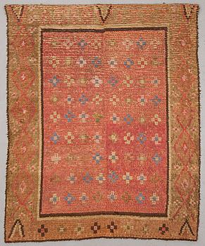 A Finnish rug, 19th Century. Circa 167x134 cm.