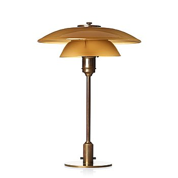 "260. POUL HENNINGSEN, bordslampa, Louis Poulsen, Danmark, ""PH-3"" PATENTED, ca 1928-33."