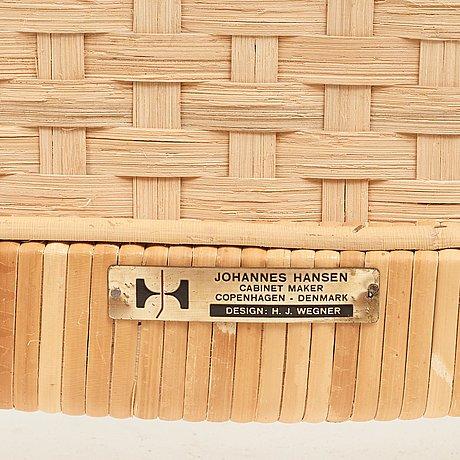 """Hans j wegner, a set of six oak """"cowhorn chairs"""", jh-505, johannes hansen, denmark 1960's."""