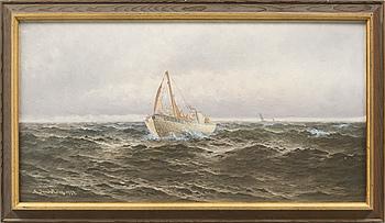JOHAN OSSIAN-ANDERSSON, olja på duk, signerad Th Sandström och daterad 1924.
