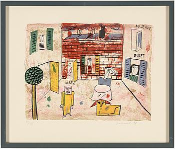 MADELEINE PYK, färglitografi, signerad Madeleine Pyk och numrerad 57/135 med blyerts.