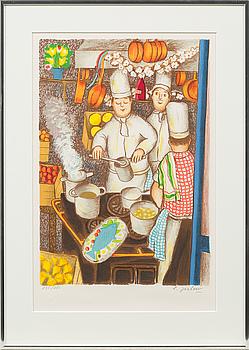 LENNART JIRLOW, färglitografi, signerad och numrerad 235/285.