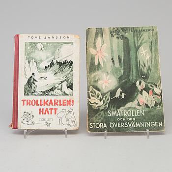 TOVE JANSSON, 2 böcker, förstaupplaga, 1945 samt 1948.