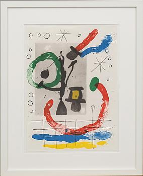 JOAN MIRÓ, färglitografi, ur Derrière le Miroir no 151-152, 1965.