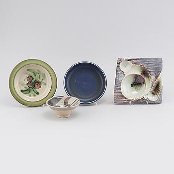 CARL-HARRY STÅLHANE, Four stoneware bowls, designed by Carl-Harry Stålhane for Rörstrand & Designhuset, second half of the 20th cenutry.