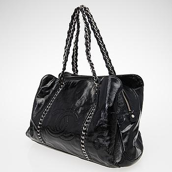 0d03c30d590f0 A Black Patent Leather Shopper.