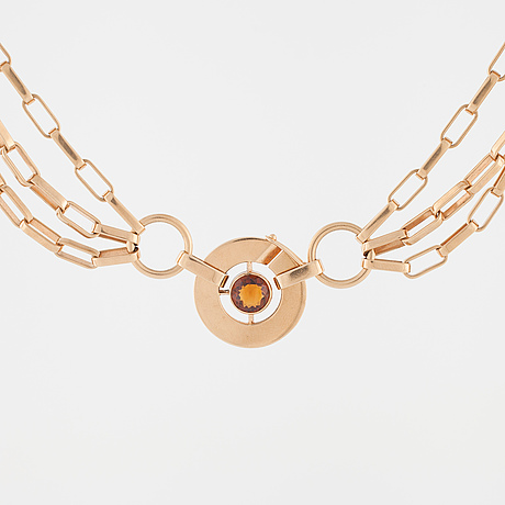Anders hÖgberg,  göteborg, 1966, a faceted citrine necklace.