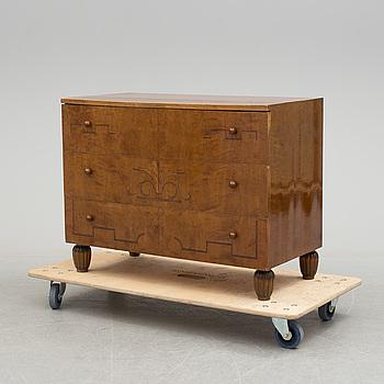 A birch veneered Swedish Grace chest of drawers, 1920's.