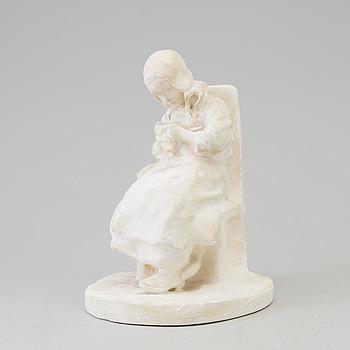 RUTH MILLES, skulptur, gips, signerad och daterad.