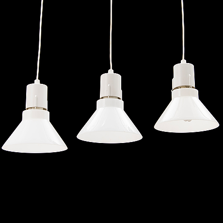 A Set Of Three Pendant Ceiling Lights Louis Poulsen Denmark - Set of three pendant lights