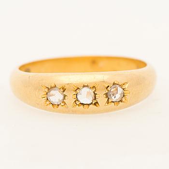 RING, rosenslipade diamanter, 18K guld.