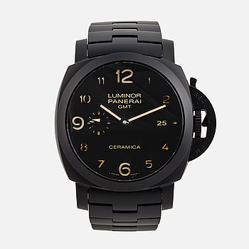 PANERAI, Luminor 1950, Tuttonero GMT, armbandsur, 44 mm.