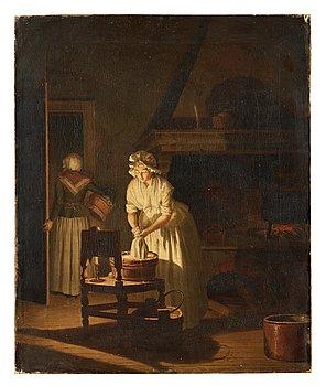 """434. PEHR HILLESTRÖM, """"En Qvinna tvättar vid ljus""""."""