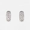 A pair of brilliant cut diamond earrings..