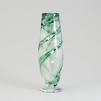 KARI ALAKOSKI, skulptur, glas, signerad Kari Alakoski Iittala 1998.