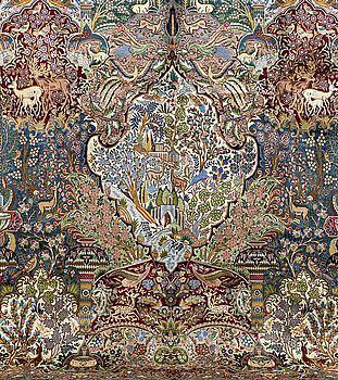 MATTA, Kashmar, figural. Ca 390 x 300 cm.