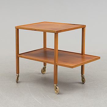 JOSEF FRANK, A walnut tea trolley model 470 by Josef Frank for Firma Svenskt Tenn.
