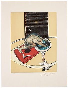 """514. FRANCIS BACON, """"Figure at a Washbasin""""."""