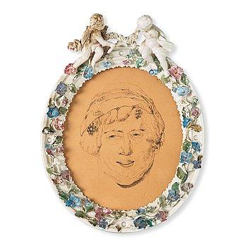 ERNST JOSEPHSON, tusch, oval, osignerad, troligtvis utförd omkring 1889.