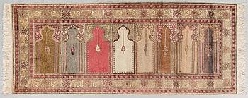 MATTA, Old Kayseri Saff, merceriserad bomull, ca 212 x 82 cm.
