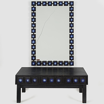 A 1960'2/1970's mirror with one drawer from Hovmantorp.