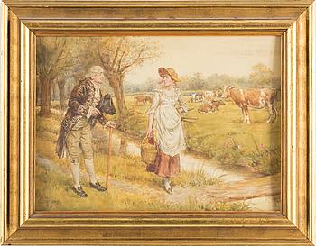 GG KILBURNE, akvarell, signerad.