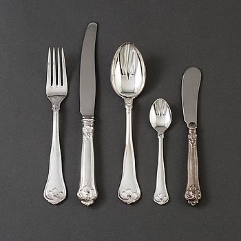 """BESTICKSERVIS, 22 delar, silver,  """"Sachsisk"""", Mema samt Cohr silver, 2000-tal."""
