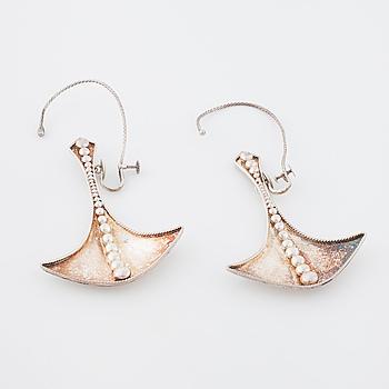 ROSA TAIKON, Stockholm, 1970, a pair of earrings.