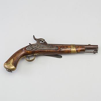 A Swedish percussion pistol 1854 Navy pattern.