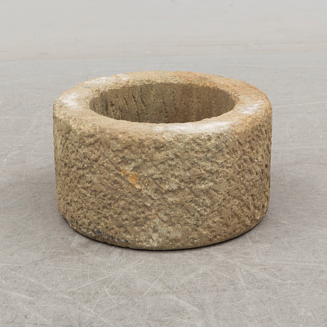 A 20th century stone flower pot