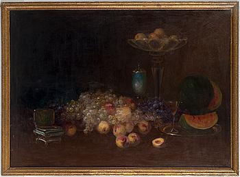 UNKNOWN ARTIST, oil on canvas, signed E Steiner.
