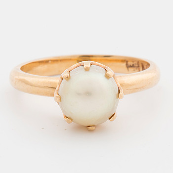 RING cultured pearl, 18K gold.