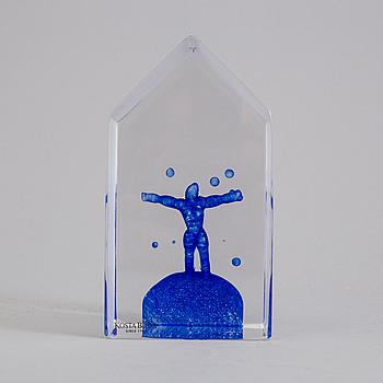 BERTIL VALLIEN, glas, skulptur, signerad.